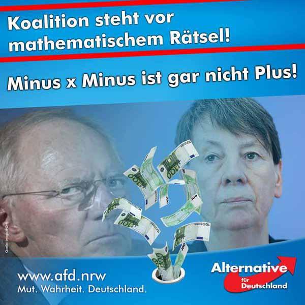 Regierung steht vor mathematischem Rätsel! Minus x Minus ist gar nicht Plus! #Date:02.2016#