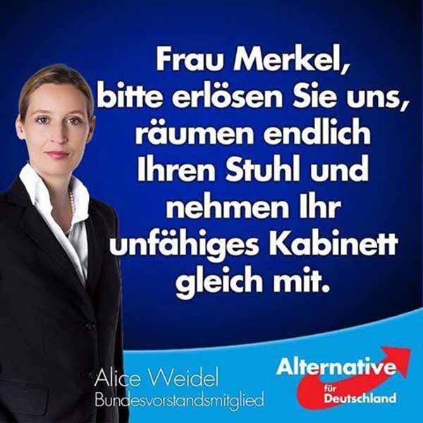Frau Merkel bitte erlösen Sie uns und räumen ihren Stuhl #Date:02.2016#