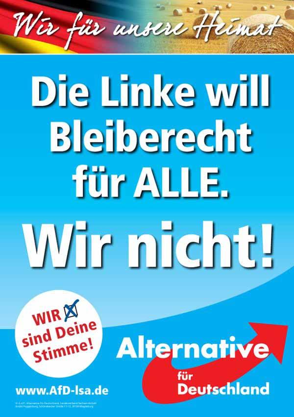 Die Linke will Bleiberecht für Alle. Wir nicht. #Date:02.2016#