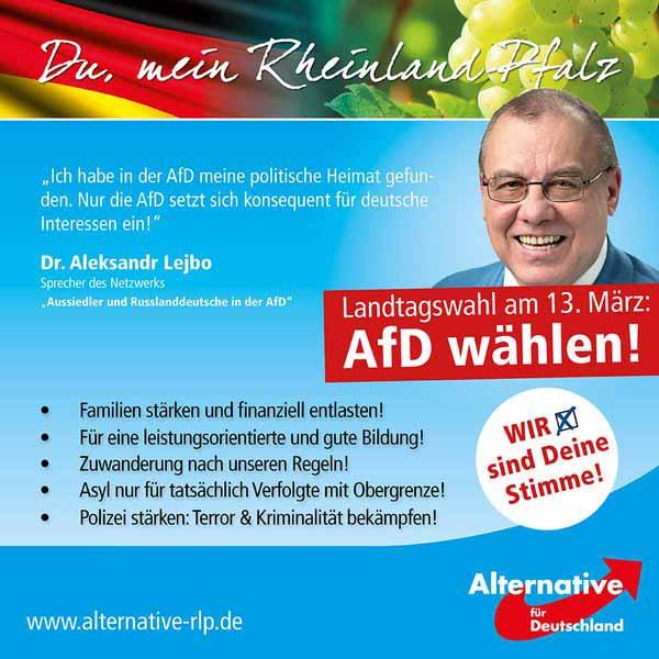 Landtagswahl Rheinland-Pfalz 2016 #Date:02.2016#