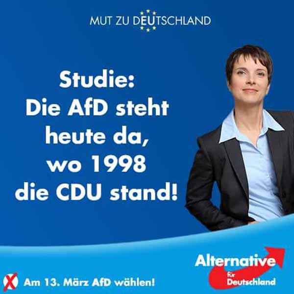 Studie: die AfD ist nicht rechter, als die CDU 1998 #Date:02.2016#
