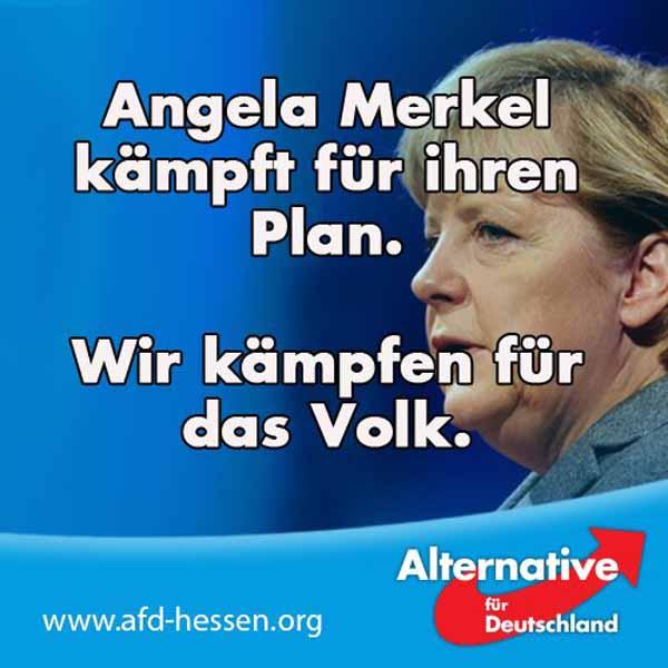 Angela Merkel kämpft für ihren Plan. Wir kämpfen für das Volk #Date:02.2016#