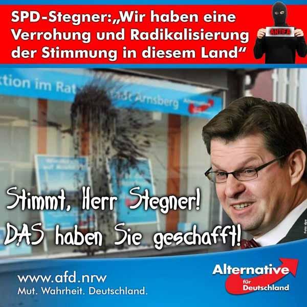Wir haben eine Verrohung und Radikalisierung der Stimmung in diesem Land. Stimmt, Herr Stegner #Date:02.2016#