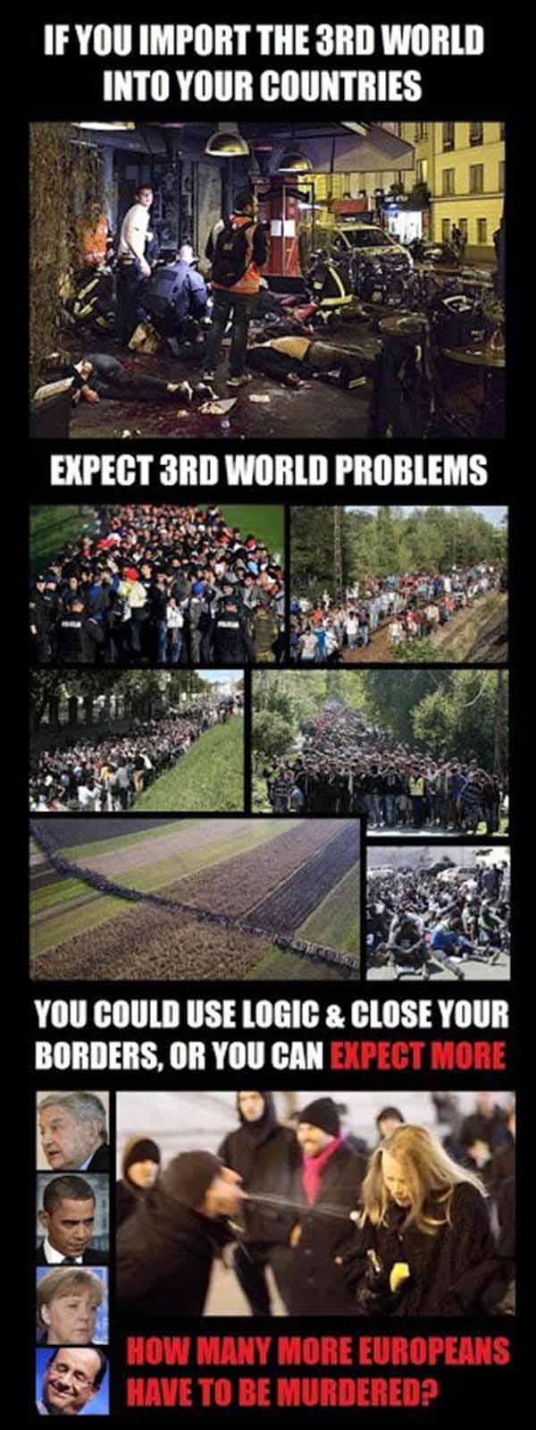 Wer die Dritte Welt importiert, muss sich nicht wundern, wenn er Dritte Welt Probleme im Land hat. #Date:01.2016#