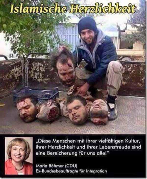 Islamische Herzlichkeit. Böhmer CDU: diese Menschen mit ihrer Herzlichkeit und vielfältigen Kultur sind eine Bereicherung #Date:02.2016#