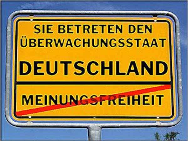 Sie betreten den Überwachungsstaat Deutschland. Meinungsfreiheit gestrichen. #Date:02.2016#