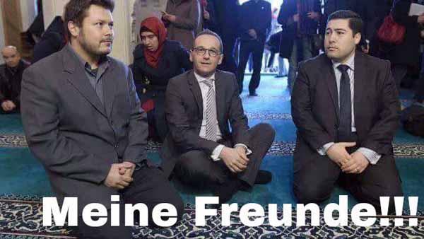 Bundesjustizminister Maas und seine islamischen Freunde. #Date:02.2016#