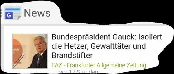 Bundespräsident Gauck will die offene Meinung des Volkes isolieren #Date:02.2016#
