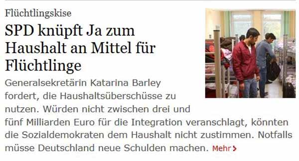 SPD Barley fordert weitere Milliarden für Flutlinge #Date:02.2016#
