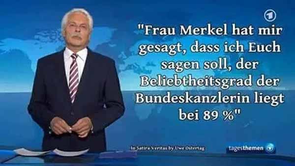ARD – Die Kanzlerin hat mir gesagt, dass ich  euch sagen soll, Beliebtheitsgrad 89% #Date:02.2016#