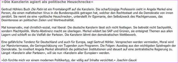 Kanzlerin Merkel fungiert als politische Heuschrecke #Date:02.2016#