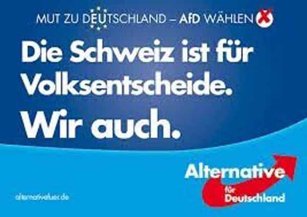 Die Schweiz ist für Volksentscheide. Die AfD auch #Date:02.2016#