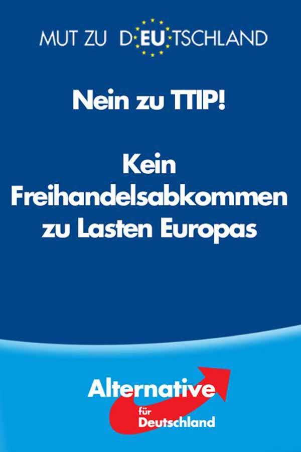 Nein zu TTIP. Kein Freihandelsabkommen zu Lasten Europas. #Date:02.2016#