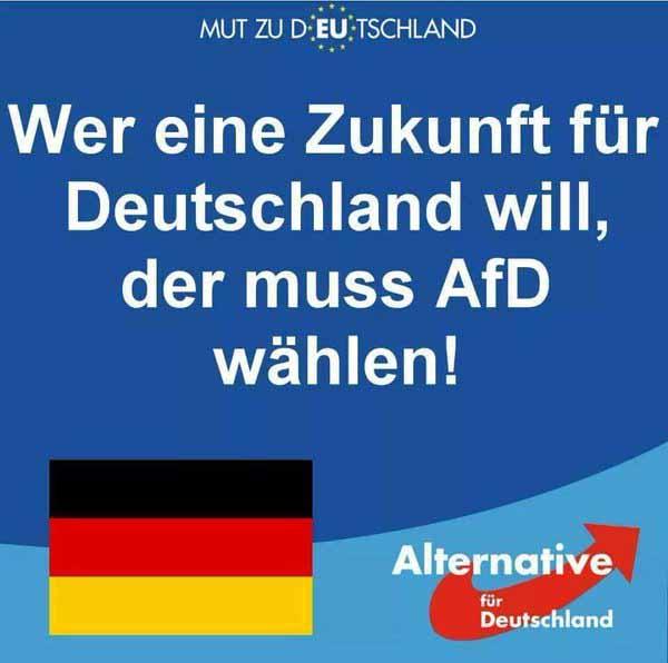 Wer eine Zukunft für Deutschland will, der muss AfD wählen. #Date:03.2016#