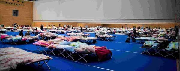 Schaden durch Flüchtlingsbelegung in Korber-Sporthalle Berlin bereits bei 4,3 Millionen Euro. #Date:03.2016#