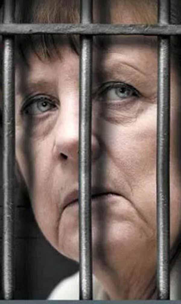 Merkel hinter Gittern. Eine schöne Vorstellung. Und beruhigend #Date:01.2016#