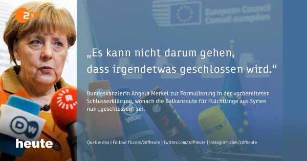 Merkel will die Grenzen offenhalten. Zum Schaden und Nachteil von Deutschland und Europa #Date:03.2016#