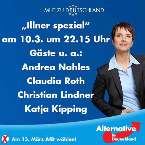ZDF Maybrit Illner wieder mal mit ausgewogener Gästeliste. Staatsfunk, Lügenpresse #Date:03.2016#