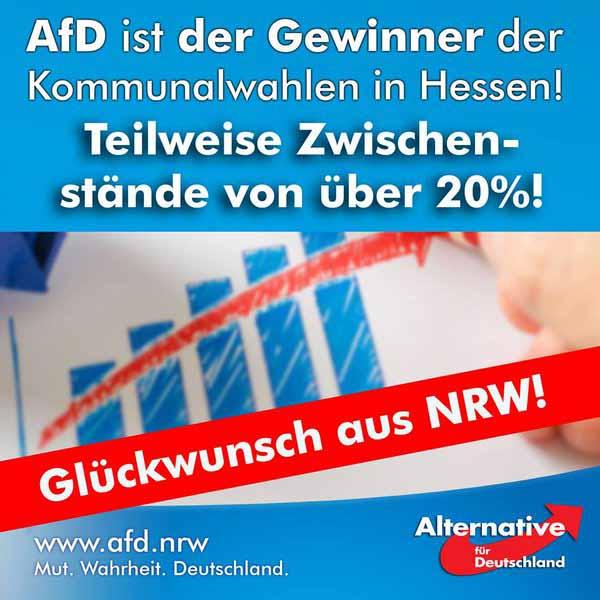 AfD Alternative für Deutschland ist drittstärkste Kraft bei Kommunalwahlen in Hessen #Date:03.2016#
