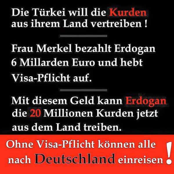 Ohne Visapflicht für Türkei kann jeder nach Deutschland einreisen. #Date:03.2016#