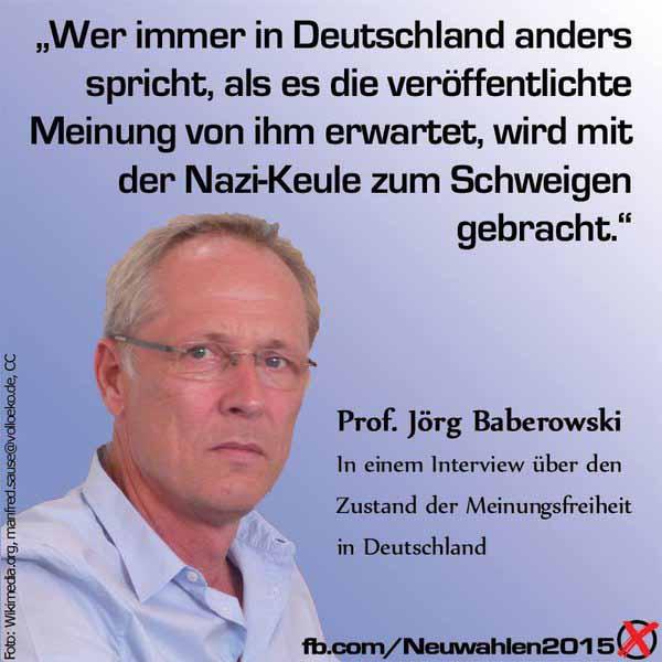 Wer immer in Deutschland gegen die Medien-Meinung ist, wird mit der Nazi-Keule klein gemacht. #Date:03.2016#