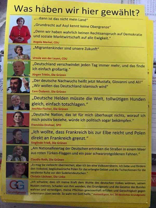 Deutsche Politiker mit Hass auf Deutschland #Date:03.2016#