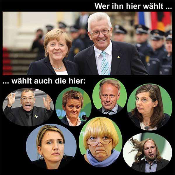 Wer Kretschmann Grüne wählt, stimmt auch für Beck, Göring-Eckardt, Roth und andere Frösche #Date:03.2016#