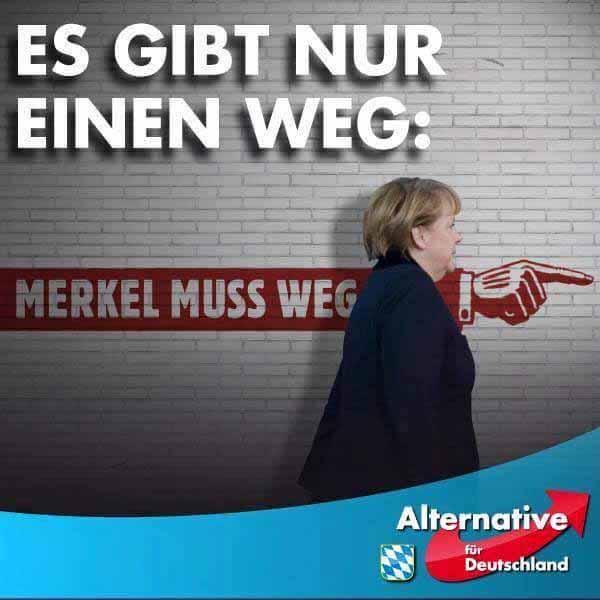 Es gibt nur einen Weg. Merkel muss weg #Date:03.2016#