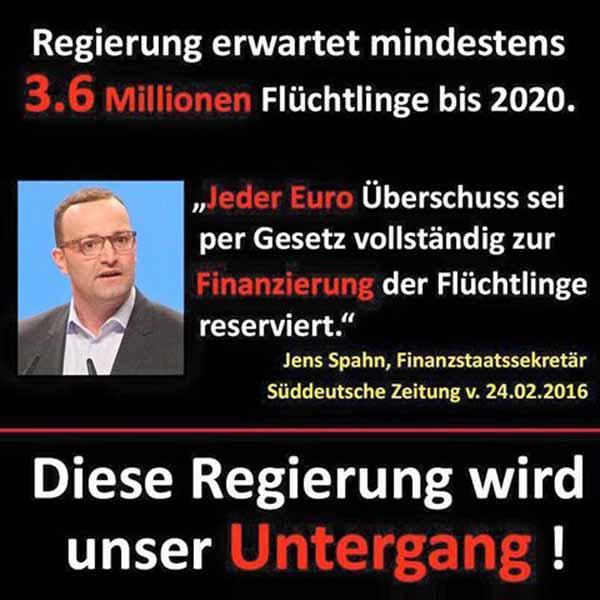 Jeder Euro Überschuss für Flüchtlinge reserviert. Jens Spahn CDU #Date:03.2016#