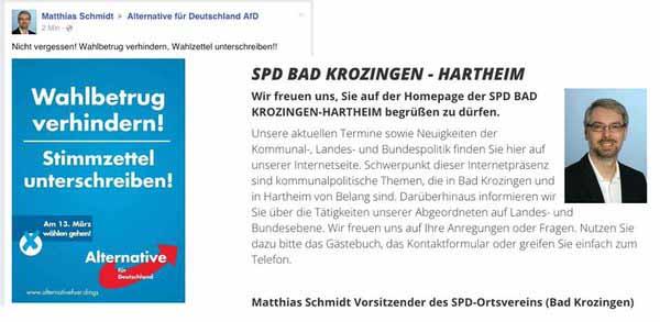 SPD Bad Krozingen-Hartheim betreibt mit gefälschtem AfD-Plakat Walhlsabotage #Date:03.2016#