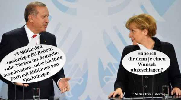 Ergogan erpresst. Merkel zahlt. Der Bürger ist der Dumme #Date:03.2016#