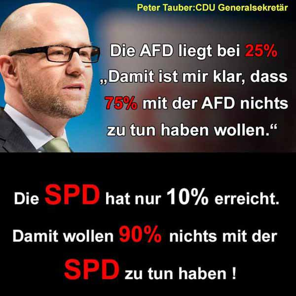 Peter Tauber CDU mit der besten und lustigsten Aussage zur Wahlniederlage der Blockparteien #Date:03.2016#
