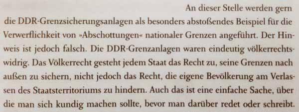 Grenzsicherung. Abstossendes Beispiel DDR-Grenzanlagen. Diese waren völkerrechtswidrig, weil sie gegen die eigene Bevölkerung gerichtet waren. #Date:03.2016#