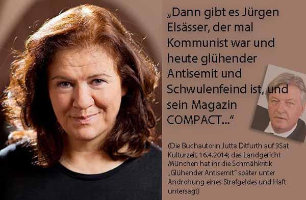 Anti-Deutsche Maulheldin Jutta-Ditfurt #Date:03.2016#