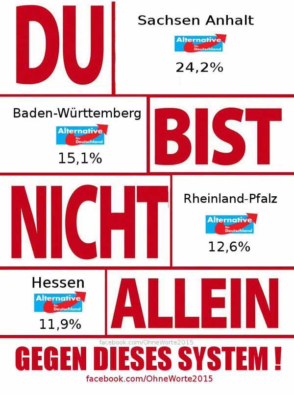 Du bist nicht allein im Kampf gegen Merkel #Date:03.2016#
