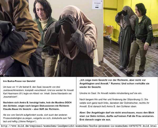Muslimin weigert sich in deutschem Gericht die Burka abzunehmen #Date:03.2016#