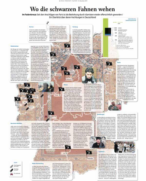 Wo sich in Deutschland bereits fest etablierte Islamisten-Nester befinden. #Date:03.2016#