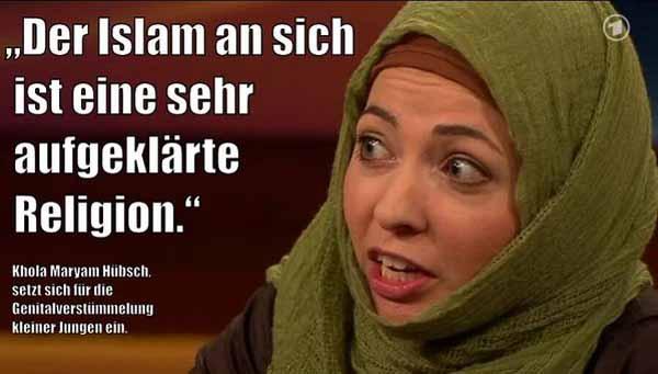 Der Islam sei an sich eine sehr aufgeklärte Religion. Das erklärt auch die barbarischen Gepflogenheiten des Islam, wie das Schächten und die rituelle Beschneidung. #Date:03.2016#