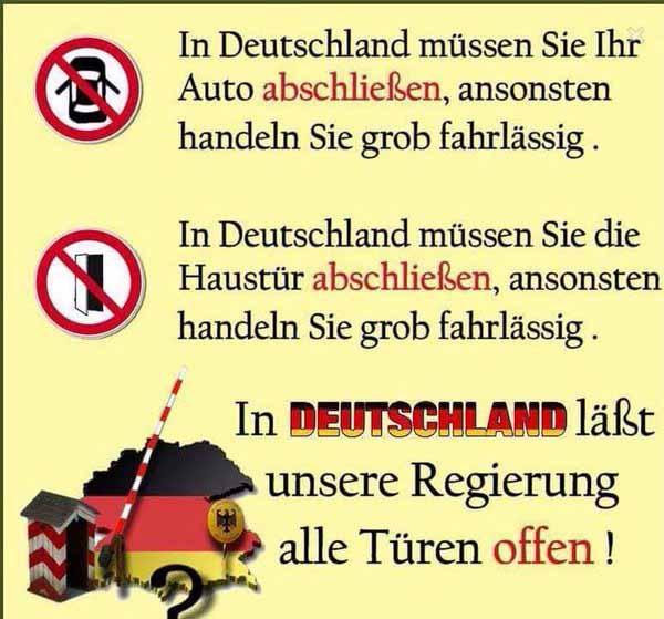 In Deutschland dürfen Wahnsinnige regieren. Bürger werden drangsaliert. #Date:03.2016#