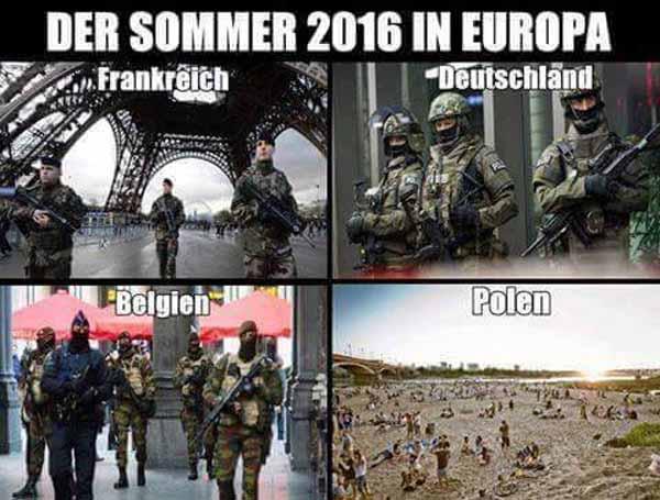 So wird der Sommer  2016 in Frankreich, Deutschland, Belgien und Polen aussehen #Date:03.2016#