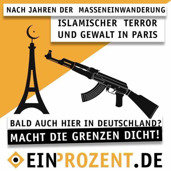 Islamischer Terror in Paris. Bald auch bei uns in Deutschland. #Date:12.2015#