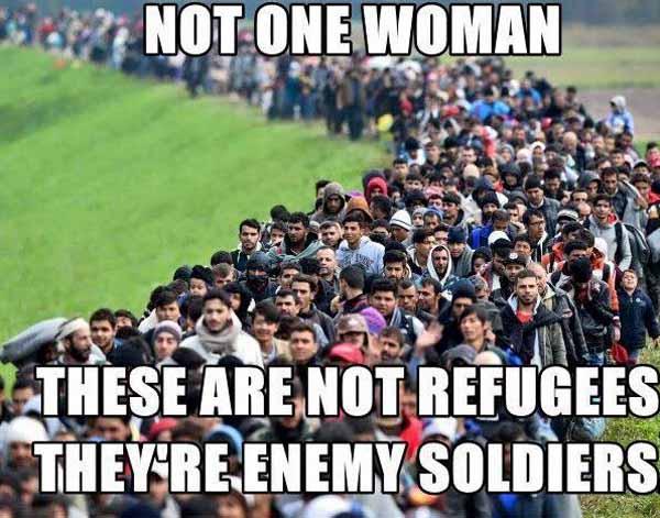Keine einzige Frau. Dies ist der Einmarsch einer fremden Armee in Germoney.  #Date:04.2016#