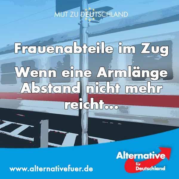 Frauenabteile in deutschen Zügen – Prima Errungenschaft der Moslem-Mulit-Kulti-Asylchaos-Krise durch Frau Merkel #Date:03.2016#