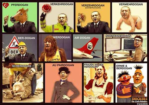 Erdogan in allen Facetten seines mehr als seltsamen Charakters satirisch dargestellt. Aber mit solchen Leuten kann  man schon einen Deal machen, wenn man Merkel heisst. #Date:04.2016#