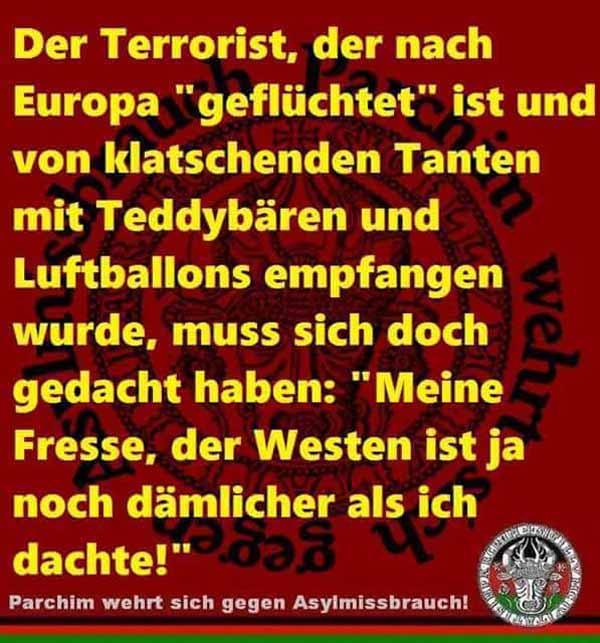 Da staunt sogar der islamische Terrorist über die Blödheit der Gutmenschen #Date:#