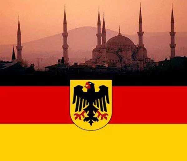 Merkels feuchte Träume. Deutschland islamisiert und von Moscheen und Minaretten zugekleistert. #Date:04.2016#