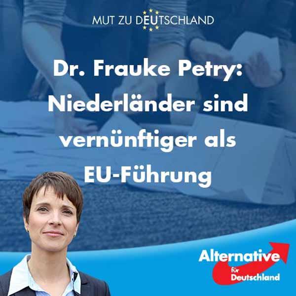 Niederländer sprechen mit der Abstimmung gegen EU-Ukraine-Abkommen ihr Misstrauen gegen EU-Führung aus. #Date:04.2016#