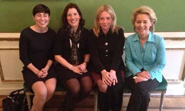 Das sind die Verteidigungsminister von Schweden, Norwegen, Holland und Deutschland. Da hilft nur noch der Bunker im Keller. #Date:04.2016#