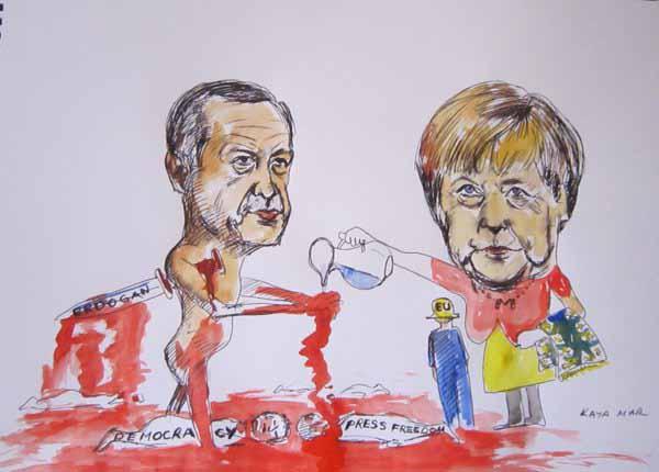 Merkel wäscht den islamistischen türkischen Ministerpräsidenten Erdogan mit dem Merkel-Erdogan-Deal rein. Verrat der schlimmsten Art. #Date:04.2016#