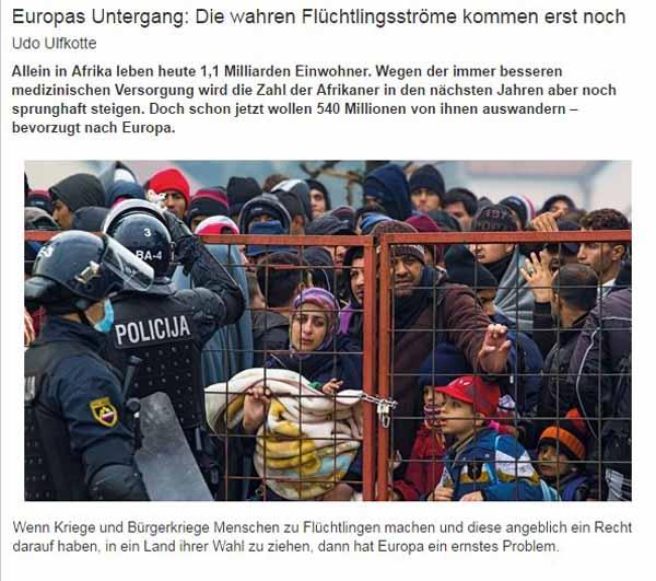 Die richtig krassen Migrantenströme kommen erst noch. Halb Afrika steht vor den Toren. #Date:04.2016#